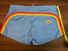 "Sundek  Vintage Made Un USA Swim Shorts Size 34 Classic 12"" Low Rise Board"