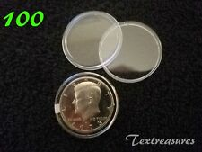 100-T30.6mm AIRTITE/DIRECT FIT COIN CAPSULE for KENNEDY HALF DOLLARS