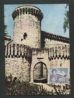 SPAIN MK 1967 CASTILLO BURG CASTLE CHATEAU MAXIMUMKARTE MAXIMUM CARD MC CM d3776