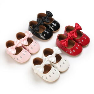 Newborn Baby Girls Princess Crib Shoes Infant Wedding Party Dress Outfit Shoes