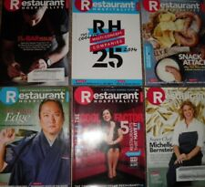 Restaurant Hospitality Magazine Lot of 6 (Restaurant Management Chef Catering)