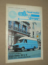 Catalogue Camion IVECO Daily 35U8 UNIC  prospectus brochure prospekt LKW truck