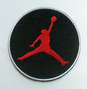 AIR JORDAN  iron on embroidered  PATCH BASKETBALL  HOOPS jumpman SHOES NIKE 4 in