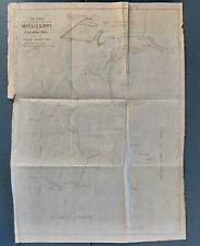1852 map Facsimile of Mississippi - Father Maquette from John Shea Book
