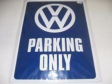 Volkswagen VW Bleckschild Groß Retro PARKING ONLY 29 x 39 cm