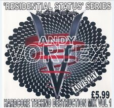 ANDY VORTEX - HARDCORE TECHNO DESTRUCTION MIX VOL.1. (CONTINUOUS DJ MIX CD)