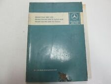1987 Mercedes Model 124.133 193 300 D TD Turbo Intro into Service Manual STAINS
