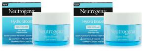 Neutrogena Hydro Boost Gel Cream, Dry Skin, Fragrance Free. 1.7 oz/50ml (2 Pack)