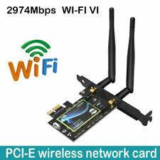 PCI-E Wifi 6 Adapter Desktop Wireless 3000Mbps Bluetooth 5.0 AX200 wifi Card