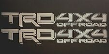 SILVER TOYOTA TRD TRUCK OFF ROAD 4x4 TOYOTA RACING TACOMA DECAL STICKER VINYL