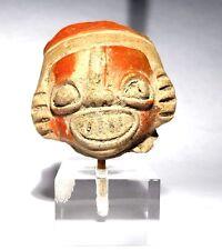 TETE PRE COLOMBIENNE INCA - 1300 AD - PRE-COLUMBIAN TERRACOTTA INCA HEAD