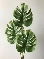 Artificial Green Monstera Leaf Spray Realistic Faux Cheese Plant Leaves Greenery