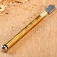 Diamond Tip Antislip Aluminum Handle Carbide Wheel Blade Oil Feed Glass Cutter