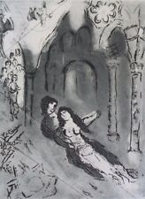 "MARC CHAGALL ""THE MARRIAGE"" - ETCHING, COA, 11"" x 14"""