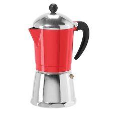 OGGI 6 Cup Cast Aluminum Stovetop Espresso Coffee Maker - Red