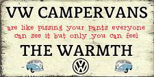 Volkswagen Camper Funny  Retro  Shabby Chic Style Sign .