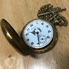 Vintage Arnex Swiss Men Half-Hunter Small Seconds Hand-Winding Pocket Watch Hour