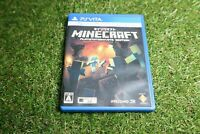 Used Mine craft Playstation Vita game soft from Japan