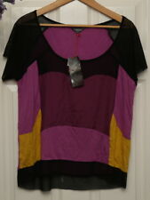 """Limited Collection M&S top purple mix 12 bust 44"""" new with tag"""