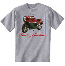 DUCATI 900 MIKE HAILWOOD INSPIRED - NEW AMAZING GRAPHIC GREY TSHIRT S-M-L-XL-XXL