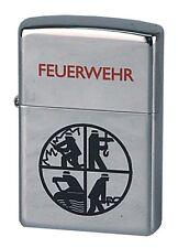 ZIPPO Benzin Feuerzeug Feuerwehr Logo schwarz NEU in Deutschland PORTOFREI