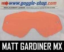 Goggle-shop Lente Para Spy Targa 3 / Whip / Klutch Motocross Gafas Rosa Rojo Tint