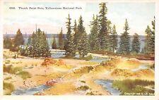 Thumb Paint Pots Yellowstone National Park c1915 Postcard by G.B. Joslin