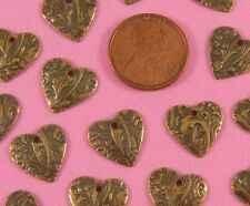 Dapt Hearts - 6 Pc(s) Vintage Design Ant Brass Floral