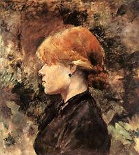 Rothaariges Girls Henri Toulouse-Lautrec Portrait Profile Deckle H a3 0413