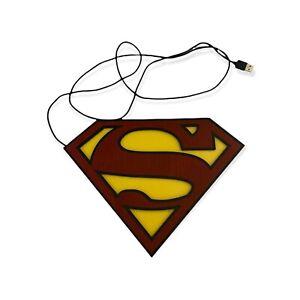 Paladone SUPERMAN SHIELD LOGO Wall Mount Light  WORKS USB Or Battery DC Comics