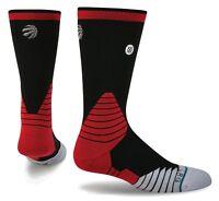 STANCE NBA Toronto Raptors Fusion 559 Black Logo Crew Basketball Socks Mens L XL