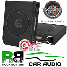 Vibe Auto 8 Active 900 Watt Amplified Slim Underseat Car Sub Subwoofer Bass Box