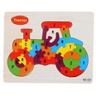 NEW KIDS WOODEN PUZZLE JIGSAW Alphabet Animal EDUCATIONAL Pre-school Toys