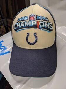 Indianapolis Colts 2007 Official NFL SUPER BOWL XLI FOOTBALL Cap HAT, Reebok