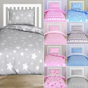 Baby Toddler Bedding Cot Junior Bed 100% Cotton Duvet Cover Pillowcase Set