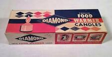 VINTAGE BOX OF DIAMOND BRAND FOOD WARMER CANDLES RETRO KITCHEN MATCHES DECOR