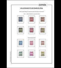 Hojas álbum Ayuntamiento de Barcelona 1929-1950 PDF DIGITAL en A4 y en 30x27cm