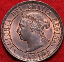 Uncirculated 1897 Canada One Cent Foreign Coin