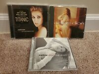 Lot of 3 Celine Dion CDs: One Heart, Let's Talk About Love, self-titled