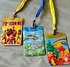 4x Neck Strap ID Badge Card Holder Lanyard Winnie Pooh Hamtaro Party Bag filler