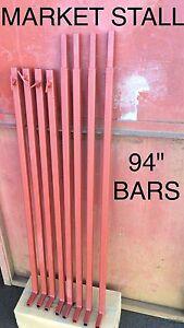 "MARKET STALL 94"" BARS BRAND NEW 4x PIECE"
