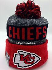 2016 NFL Kansas City Chiefs New Era On Field Sideline Sport Knit Beanie Hat