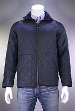 * BARBOUR * Recent Navy Blue Fleece Lined Quilted Barn Jacket~ Men's Small Short