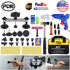 US PDR Paintless Dent Repair Tools Puller Bridge Mini T Bar Tap Down Removal Set