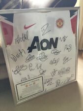 manchester united 2011/12 Signed and Framed Shirt with C.O.A.
