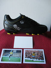 "BRAZIL LEGEND ""PELE"" GENUINE & PERSONALLY HAND SIGNED MATCH BOOT - PHOTO PROOF"