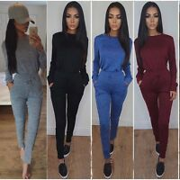 Sexy Womens Clubwear Long Sleeve Playsuit Bodycon Party Trousers Jumpsuit Romper
