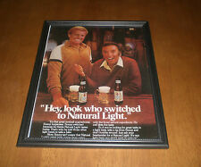 Natural Light Beer Redskins Sonny Jurgensen Framed Ad Print