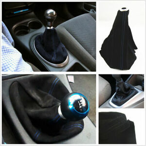 Car Manual/Automatic Gear Shift Knob Shifter Dust Cover Boot Frosted Leather