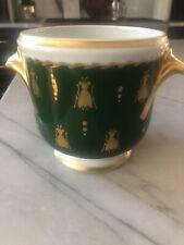 Limoges France Hand Painted Porcelain Cache Pot